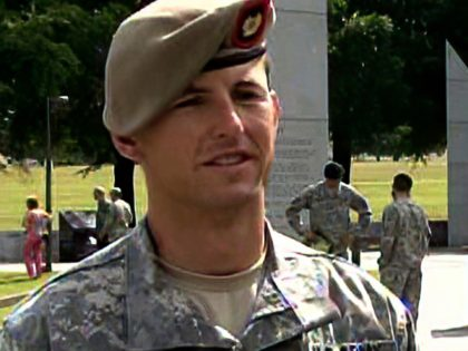 In this image from video provided by the U.S. Army, then-Sgt. 1st Class Thomas Payne is interviewed as a winner of the 2012 Best Ranger competition at Fort Benning, Ga., on April 16, 2012. Payne will receive the Medal of Honor, the U.S. military's highest honor for valor in combat, …