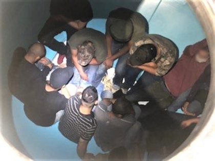 Laredo Sector Border Patrol agents find 13 migrants locked in a grain hopper rail car. (Photo; U.S. Border Patrol/Laredo Sector)