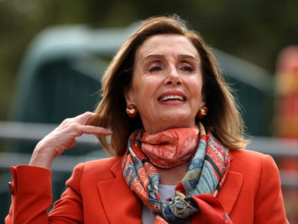 U.S. Speaker of the House Nancy Pelosi (D-CA) adjusts her hair as she speaks during a Day of Action For the Children event at Mission Education Center Elementary School on September 02, 2020 in San Francisco, California. Nancy Pelosi is drawing criticism for patronizing a hair salon to get her …