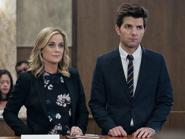 Adam Scott and Amy Poehler in Parks and Recreation (2009) Titles: Parks and Recreation, Gryzzlbox People: Adam Scott, Amy Poehler Photo by NBC/Ben Cohen - © 2014 NBCUniversal Media, LLC