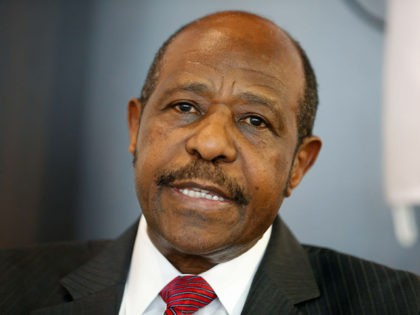MRCD-UBUMWE chairman Paul Rusesabagina poses for the photographer during a press conference of the political platform MRCD-UBUMWE and the political party RDI-EWANDA RWIZA, concerning the political and security situation in Rwanda, in Brussels, Tuesday 18 June 2019. BELGA PHOTO NICOLAS MAETERLINCK (Photo credit should read NICOLAS MAETERLINCK/AFP via Getty Images)
