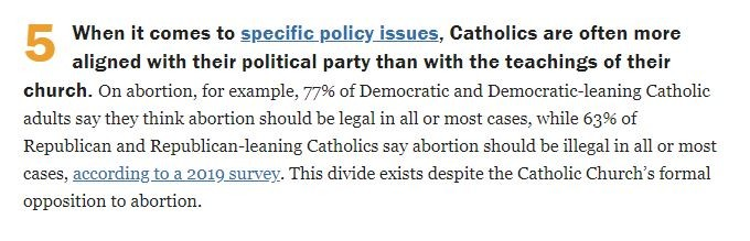 Pew Research Center on abortion and Catholic voters.