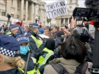 Exclusive Video: Watch Cops Storm, Forcibly Shut Down Peaceful Anti-Lockdown Protest in London