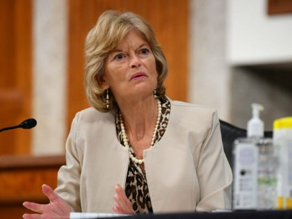 Sen. Lisa Murkowski, R-Alaska, speaks during a Senate Health, Education, Labor and Pensions Committee hearing on Capitol Hill in Washington, Tuesday, June 30, 2020. (Kevin Dietsch/Pool via AP)