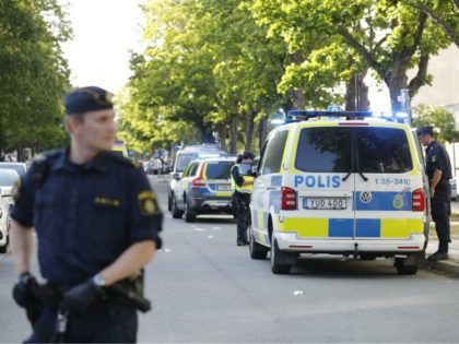 Picture dated June 30, 2019 shows police at the scene where two young men were shot in Sollentuna, north of Stockholm, Sweden. - A 17-year-old was shot to death and a 23-year-old was seriously wounded. Swedish police belive the shooting was gang related. Honour, debts, and prestige are serving as …