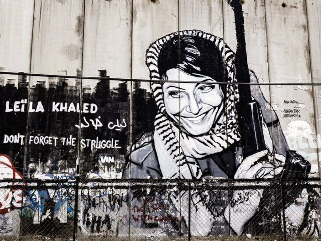 Terrorist Leila Khaled graffiti