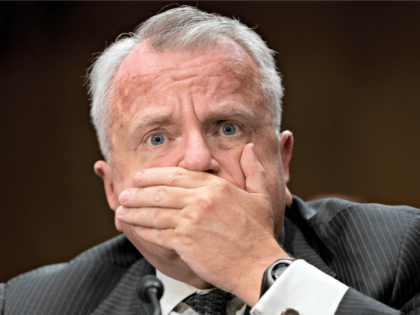 Deputy Secretary of State John Sullivan pauses while answering questions before the Senate Foreign Relations Committee for his confirmation hearing to be the new U.S. ambassador to Russia, on Capitol Hill in Washington, Wednesday, Oct. 30, 2019. President Donald Trump's nominee faced questions about Russian election interference and the ouster …