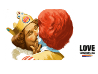 Burger King Depicts Mascot in Gay Kiss with Ronald McDonald for New Ad Campaign