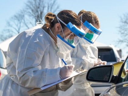 coronavirus drive-thru test