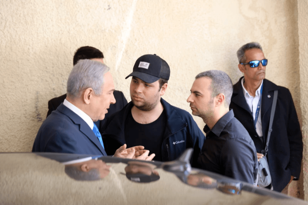 Israel Prime Minister Benjamin Netanyahu and Aaron Klein confer (Likud Party)