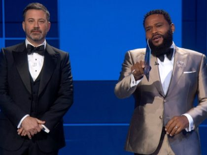 Emmys: Jimmy Kimmel and Anthony Anderson Chant Black Lives Matter