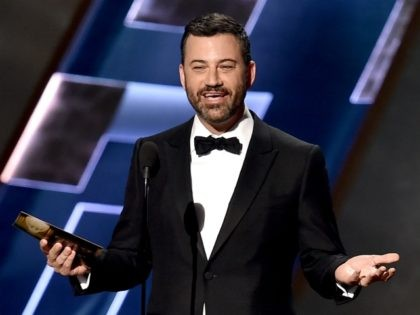 LOS ANGELES, CA - SEPTEMBER 20: TV personality Jimmy Kimmel speaks onstage during the 67th Annual Primetime Emmy Awards at Microsoft Theater on September 20, 2015 in Los Angeles, California. (Photo by Kevin Winter/Getty Images)