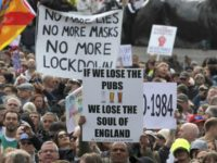 Thousands Protest Coronavirus Restrictions in London