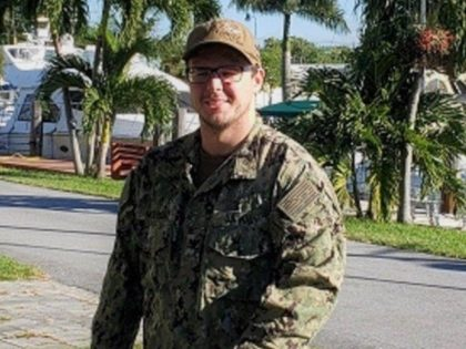Information Systems Technician 2nd Class Ian McKnight, who was assigned to the USS Nimitz, is believed to have fallen overboard on Sunday. Photo courtesy of U.S. Navy/Twitter