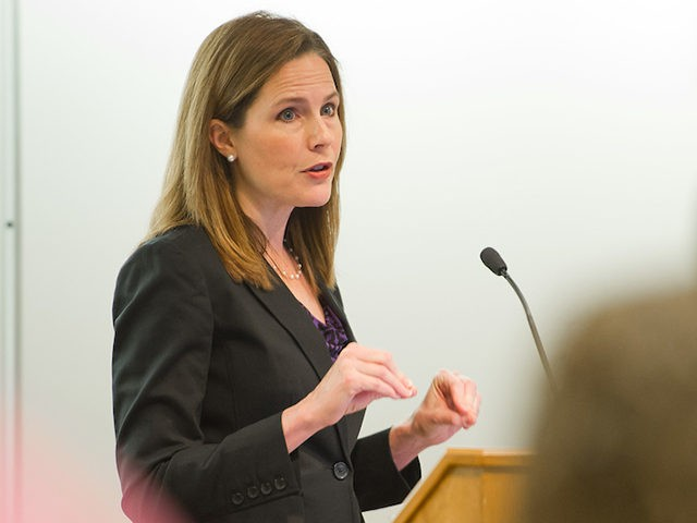 Amy Coney Barrett teaching a class at Notre Dame Law School. (Photo Courtesy of the University of Notre Dame)