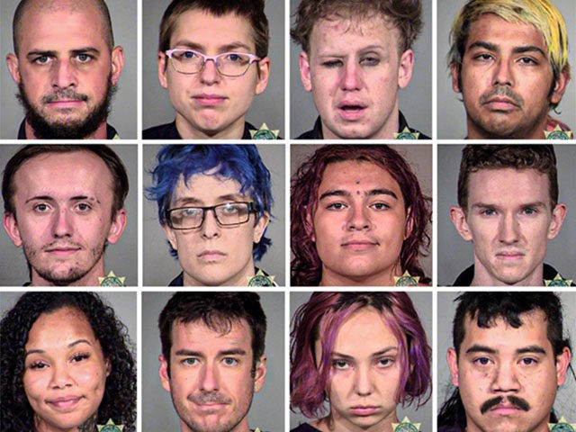 Portland riot mugshots