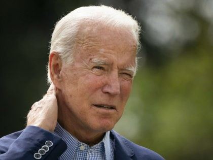 WILMINGTON, DE - SEPTEMBER 14: Democratic presidential nominee Joe Biden speaks about climate change and the wildfires on the West Coast a the Delaware Museum of Natural History on September 14, 2020 in Wilmington, Delaware. Biden has campaign stops scheduled in Florida, Pennsylvania and Minnesota later this week. (Photo by …