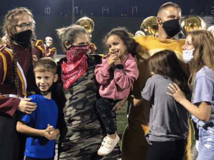 A family in Stow, Ohio, got the surprise of a lifetime during a high school football game over the weekend.