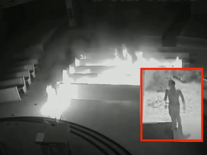 Arson at Incarnation Catholic Church in Town 'n' Country, Fla., Sept. 18, 2020. Credit: Hillsborough County Sheriff's Office.