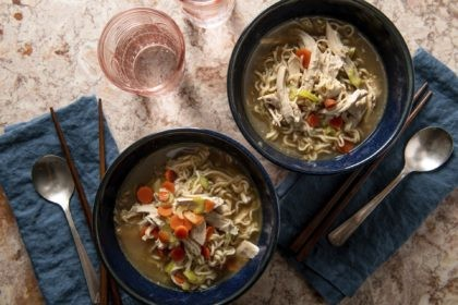 This image shows a recipe for chicken ramen noodle soup. More people are cooking at home these days, and when they do eat restaurant food, they're often looking for comfort food, experts say. Other trends include simpler recipes, recipes with fewer ingredients, one-pot meals, sheet-pan meals, finger food and pantry-ingredient …