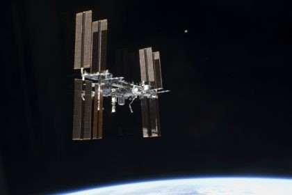 This July 19, 2011 photo of the International Space Station was taken from the space shuttleAtlantis. On Tuesday, Sept. 29, 2020, NASA said that the two Russians and one American on board were awakened late Monday to hurriedly seal hatches between compartments and search for the ongoing leak, which appeared …
