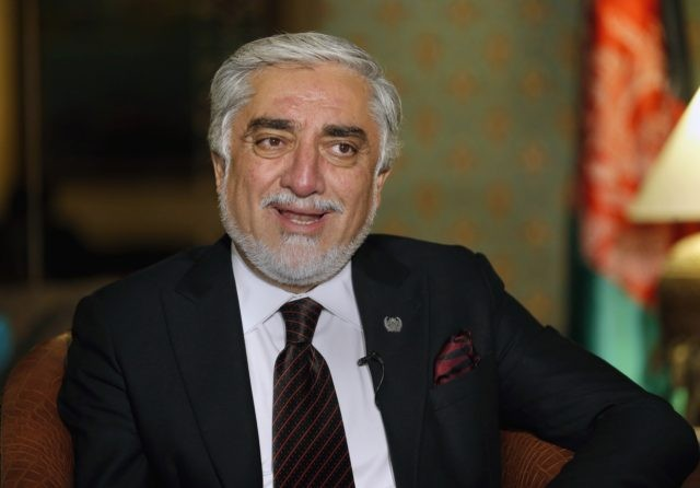 Abdullah Abdullah, chairman of Afghanistan's High Council for National Reconciliation, speaks during an interview with The Associated Press, in Islamabad, Pakistan, Wednesday, Sept. 30, 2020. Abdullah ended a three-day visit to Pakistan optimistic the uneasy neighbors had turned a corner away from a relationship marked by suspicion and downright hostility …