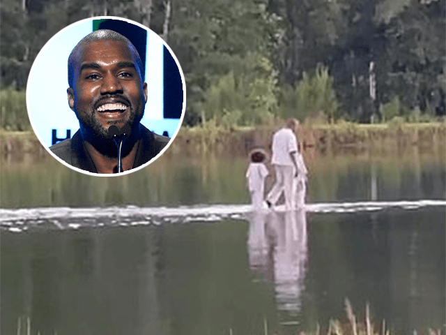 Kanye West, Joel Osteen & The Sunday Service Crew Walk Live On Water