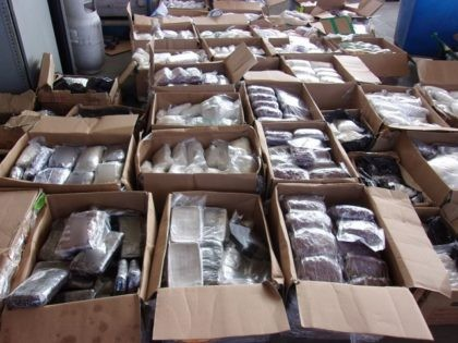CBP, DEA, and HSI team up to seized more than 3,100 pounds of methamphetamine. (U.S. Customs and Border Protection)