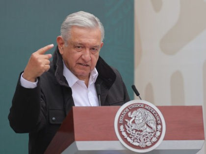 MEXICO CITY, MEXICO - SEPTEMBER 26: President of Mexico Andres Manuel Lopez Obrador speaks during the Ayotzinapa case report at Palacio Nacional on September 26, 2020 in Mexico City, Mexico. On september 26 of 2014, 43 students of Isidro Burgos Rural School of Ayotzinapa disappeared in Iguala city after clashing …