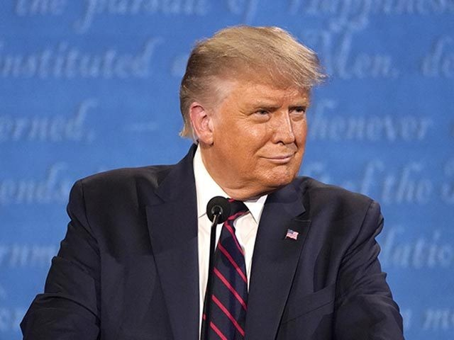 President Donald Trump speaks during the first presidential debate Tuesday, Sept. 29, 2020, at Case Western University and Cleveland Clinic, in Cleveland, Ohio. (AP Photo/Julio Cortez)