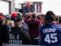 Donald Trump Plays Joe Biden 'Hairy Legs' Video for Crowd at New Hampshire Rally