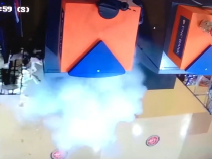 A grocery store ATM is blown up by looters in Philadelphia. (Video Screenshot/ABC6)