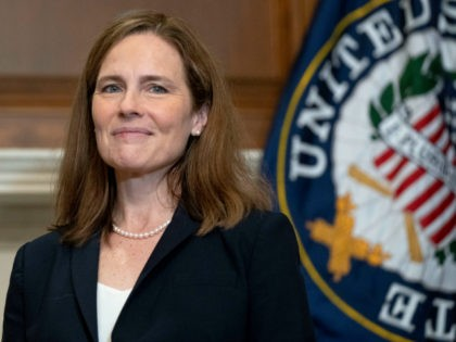 Supreme Court nominee Amy Coney Barrett meets with Sen. James Lankford, R-Okla., Wednesday, Oct. 21, 2020, on Capitol Hill in Washington. (Leigh Vogel/Pool via AP)