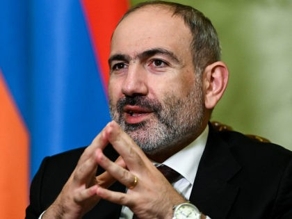 Armenian Prime Minister Nikol Pashinyan gives an interview to AFP in Yerevan on October 6, 2020. - Battles raged between Armenian and Azerbaijani forces over the disputed Nagorno-Karabakh region on October 6, with both sides vowing to pursue the conflict despite increasing international pressure for a ceasefire. (Photo by - …