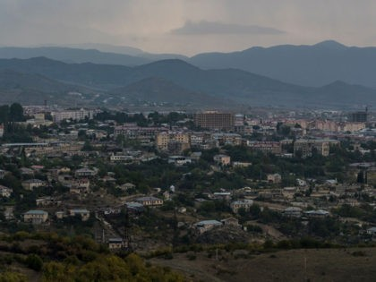 STEPANAKERT, NAGORNO-KARABAKH - OCTOBER 2: A view of the city on October 2, 2020 in Stepanakert, Nagorno-Karabakh. A decades-old conflict between Armenia and Azerbaijan has reignited in the disputed region of Nagorno-Karabakh, recognized by most countries as part of Azerbaijan, but controlled by ethnic Armenians since a 1994 ceasefire. Dozens …