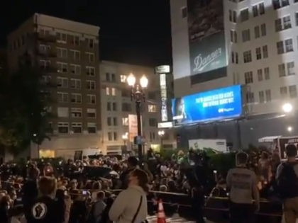 Watch: BLM Chastises Hotel Guests for Closing Blinds During Vigil for Man Who Pointed Gun at Police