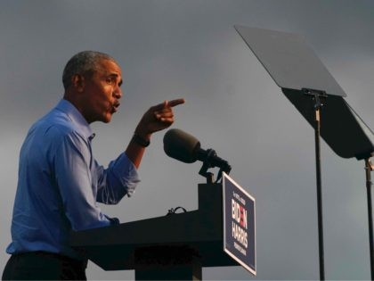 Barack Obama teleprompter Biden (Alex Edelman / AFP / Getty)