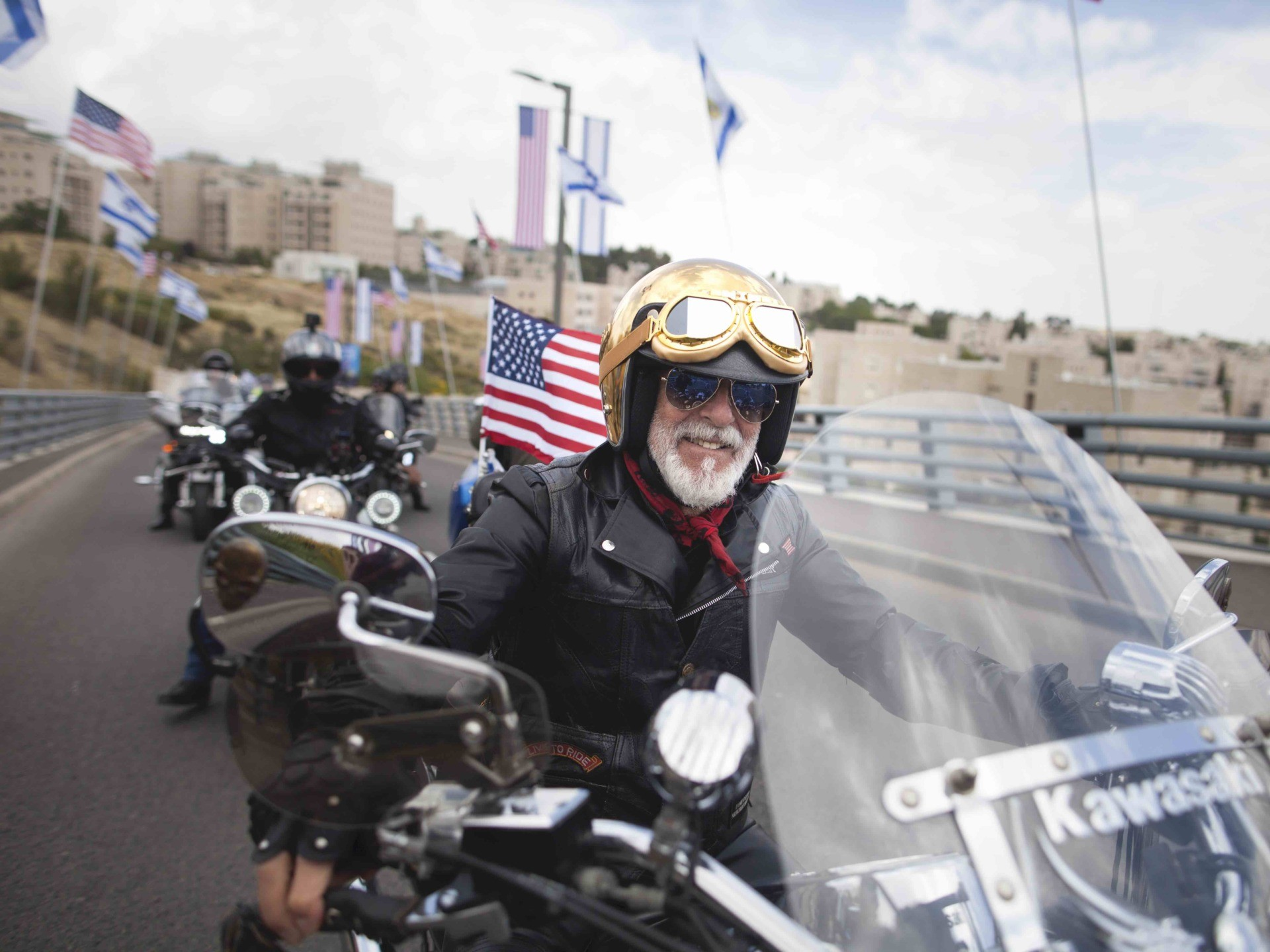 WATCH: Bikers Rally for Trump in Jerusalem Old City
