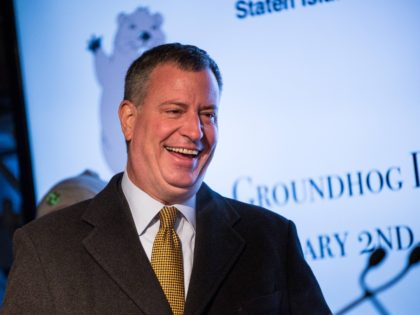 Bill de Blasio groundhog (Andrew Burton / Getty)