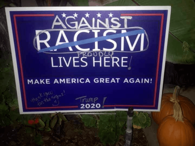 Trump Supporter Strikes Back with Anti-Racism Sign in Coronado