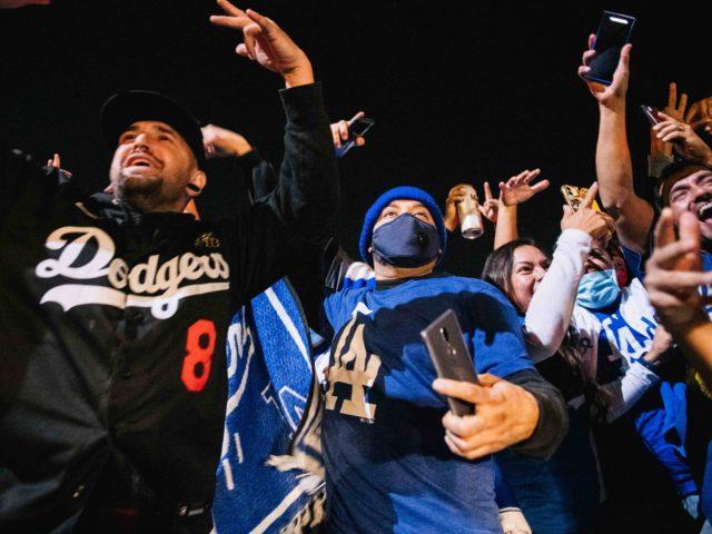 Dodgers fans (Brandon Bell / Getty)