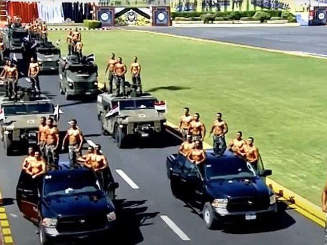 Egypt: Police Stage Muscular Topless Graduation Parade for President Sisi