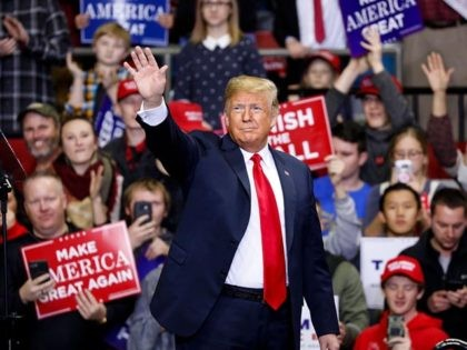 FORT WAYNE, IN - NOVEMBER 05: U.S. President Donald Trump arrives at a campaign rally for Republican Senate candidate Mike Braun at the County War Memorial Coliseum November 5, 2018 in Fort Wayne, Indiana. Braun is facing first-term Sen. Joe Donnelly (D-IN) in tomorrow's midterm election. Trump is campaigning nationwide …