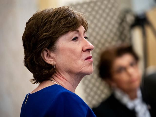 Senator Susan Collins, a Republican from Maine, listens during a Senate Small Business and Entrepreneurship Committee hearing in Washington, D.C., U.S., on Wednesday, June 10, 2020. The hearing examines the government's virus relief package that offers emergency assistance to small businesses. Photographer: Al Drago/Bloomberg