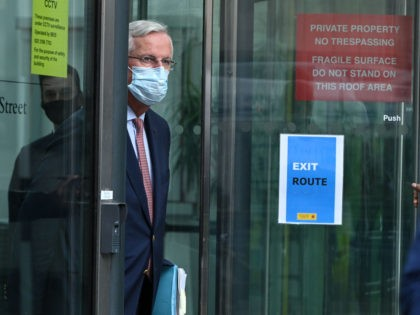 LONDON, ENGLAND - SEPTEMBER 10: Michel Barnier, the European Union's chief negotiator, returns to his hotel following the EU Brexit meetings at the Department for Business, Energy and Industrial Strategy on September 10, 2020 in London, England. Trade talks over the British exit from the European Union are resuming this …