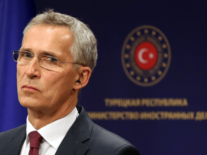 NATO Secretary General Jens Stoltenberg holds a joint press conference with Turkish Foreign Minister after their meeting at the Foreign Ministry building in Ankara, on October 05, 2020. (Photo by Adem ALTAN / AFP) (Photo by ADEM ALTAN/AFP via Getty Images)