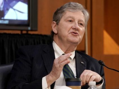 WASHINGTON, DC - OCTOBER 12: U.S. Sen. John Kennedy (R-LA) speaks during Supreme Court Justice nominee Judge Amy Coney Barrett's Senate Judiciary Committee confirmation hearing for Supreme Court Justice on Capitol Hill on October 12, 2020 in Washington, DC. With less than a month until the presidential election, President Donald …