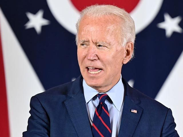 Democratic Presidential candidate and former Vice President Joe Biden delivers remarks at a voter mobilization event in Cincinnati, Ohio, on October 12, 2020, where he will speak to the importance of Ohioans making their voices heard this election. (Photo by JIM WATSON / AFP) (Photo by JIM WATSON/AFP via Getty …