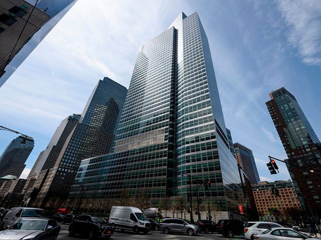 The headquarters of Goldman Sachs is pictured on April 17, 2019 in New York City. (Photo by Johannes EISELE / AFP) (Photo by JOHANNES EISELE/AFP via Getty Images)