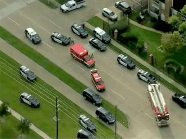 Two Houston police officers were shot while on duty in South Houston. (Video Screenshot/ABC13 Houston)